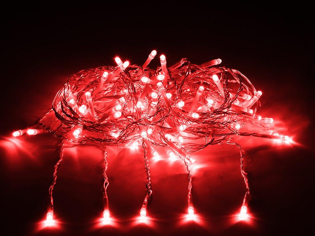 Гирлянда Vegas Занавес 156 светодиодов 1.5x1.5m Red 55080