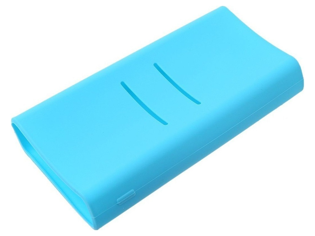 Чехол Xiaomi Silicone Case Slim for Power Bank 5000 Blue цена и фото