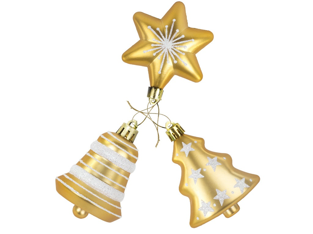 Украшение Золотая сказка Набор из 3 предметов 591115