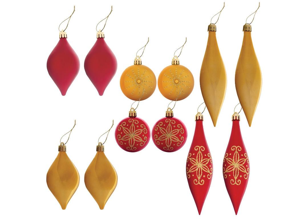 Украшение Золотая сказка Набор из 12 предметов Red-Gold 591109