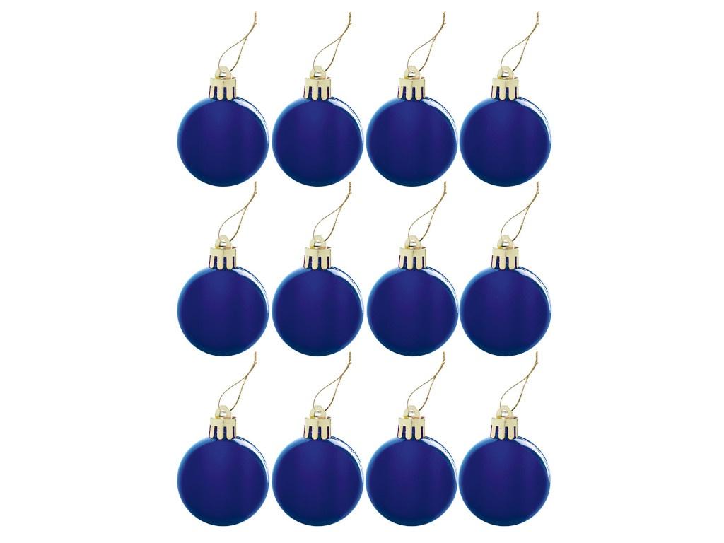 Набор шаров Золотая сказка 4cm 12шт Blue 591122