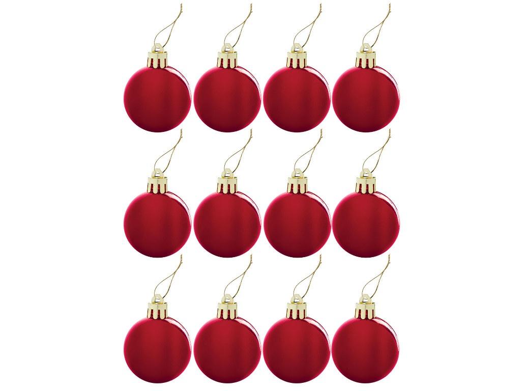 Украшение Золотая сказка Набор шаров 4cm 12шт Red 591123