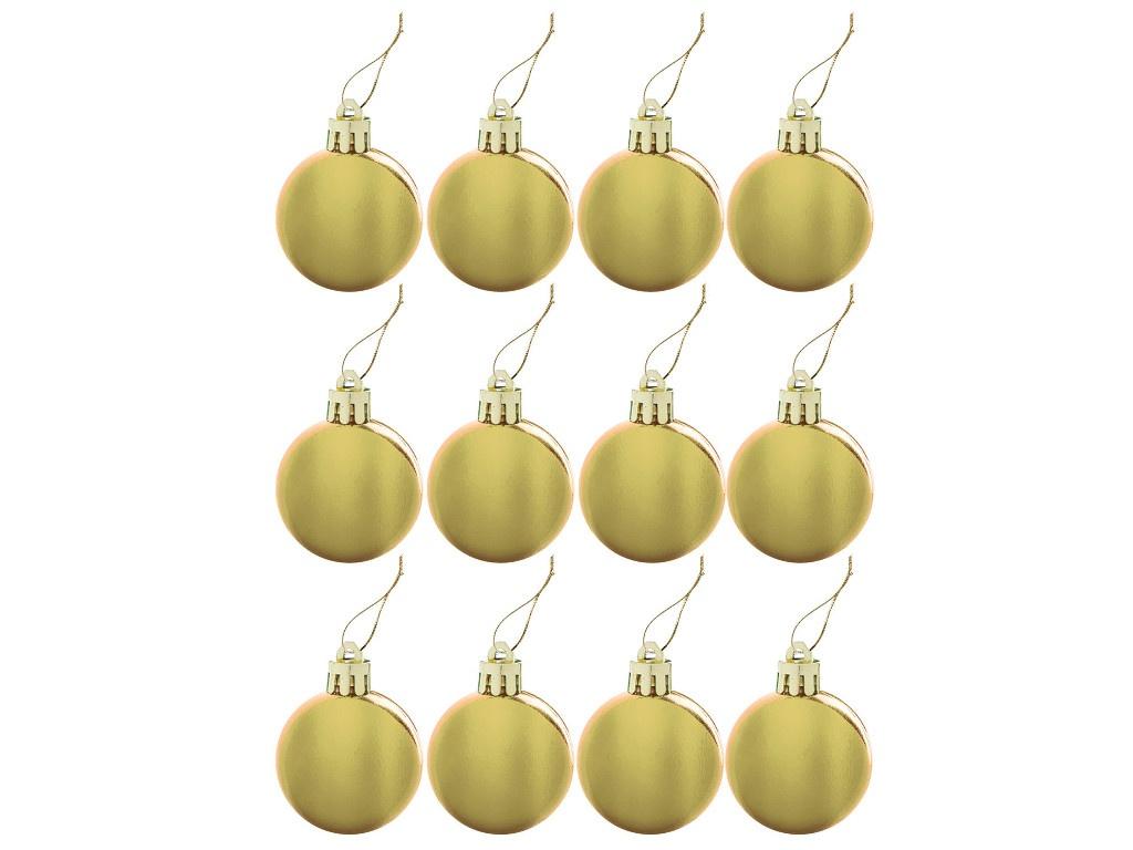 Набор шаров Золотая сказка 4cm 12шт Gold 591124