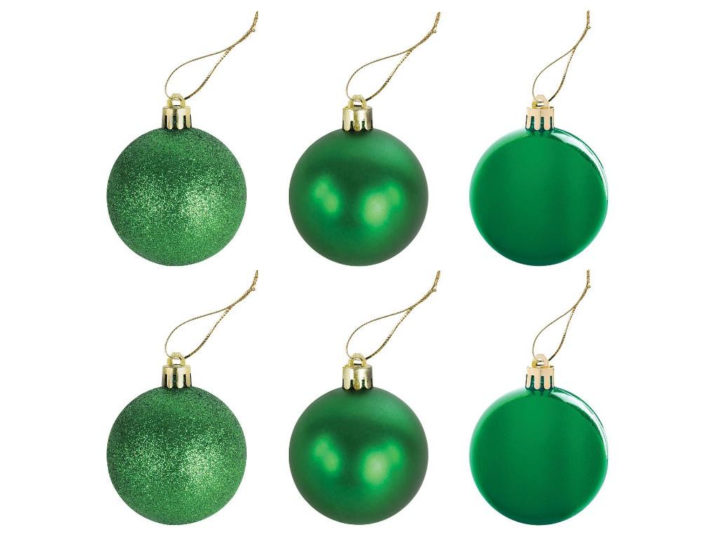 Украшение Золотая сказка Набор шаров 6cm 6шт Green 591127