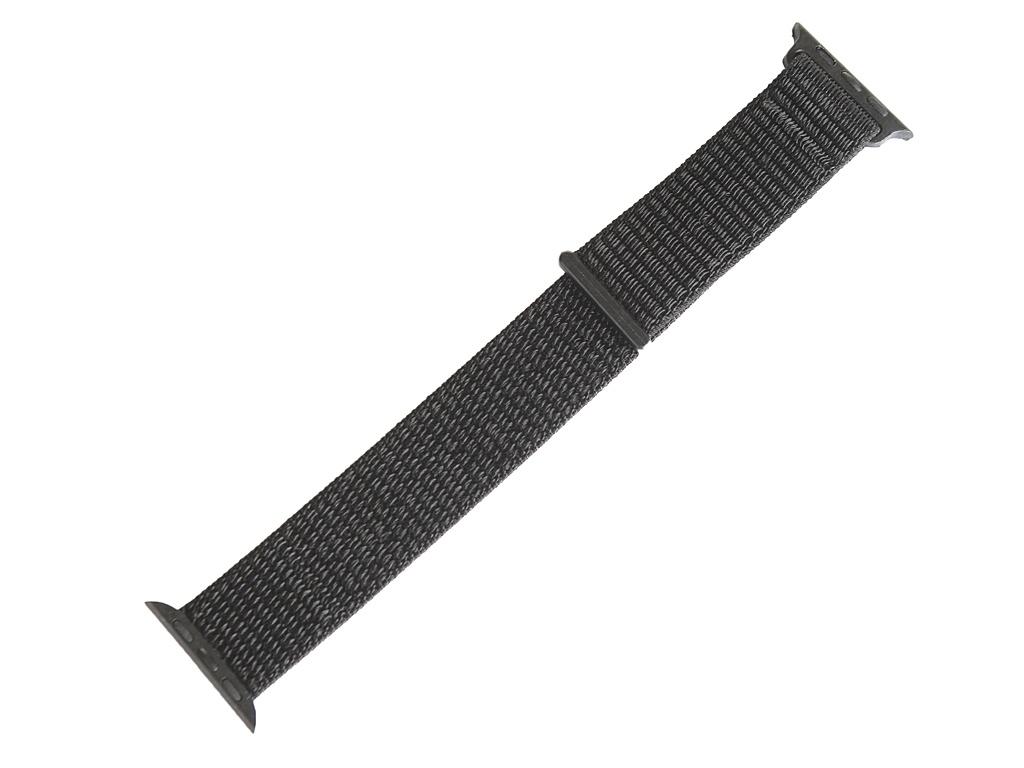 Аксессуар Ремешок Gurdini Sport Loop для APPLE Watch 38/40mm Black 908113
