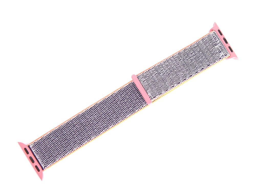 Аксессуар Ремешок Gurdini Sport Loop для APPLE Watch 38/40mm Electric Pink 908109