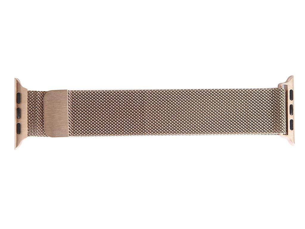 Аксессуар Ремешок Gurdini Milanese Loop для APPLE Watch 42mm/44mm Vintage Gold 907685