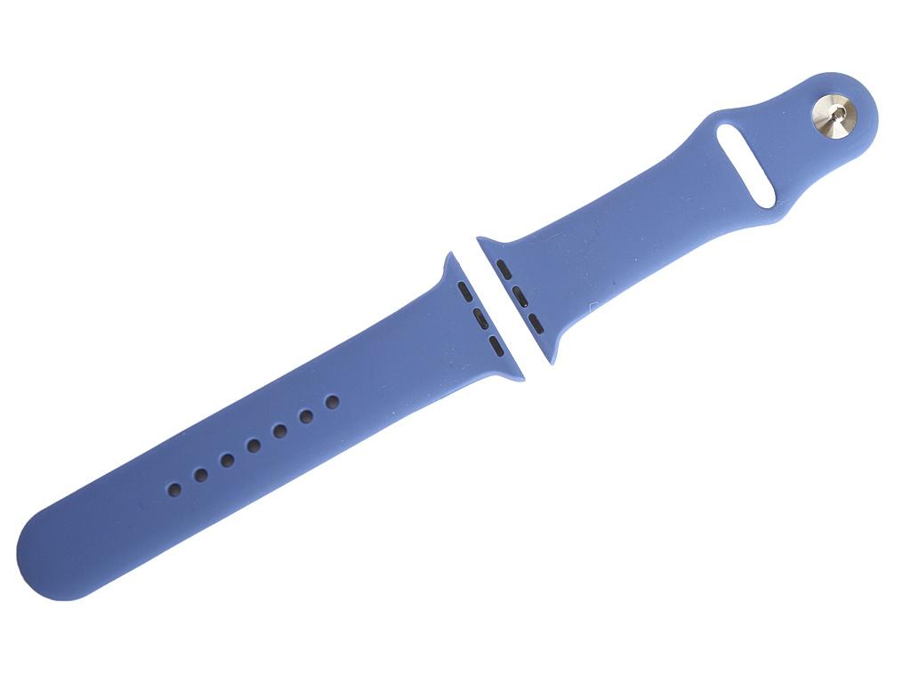 Аксессуар Ремешок Gurdini Sport Silicone для APPLE Watch 42mm/44mm Delft Blue 910755