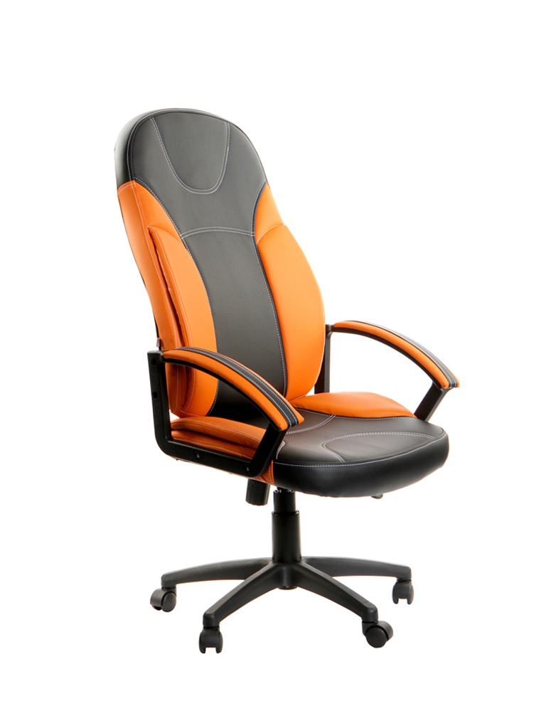 Компьютерное кресло TetChair Twister искусственная кожа Black-Orange 12218