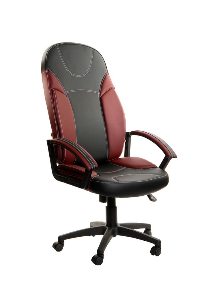 Компьютерное кресло TetChair Twister искусственная кожа Black-Burgundy 5335