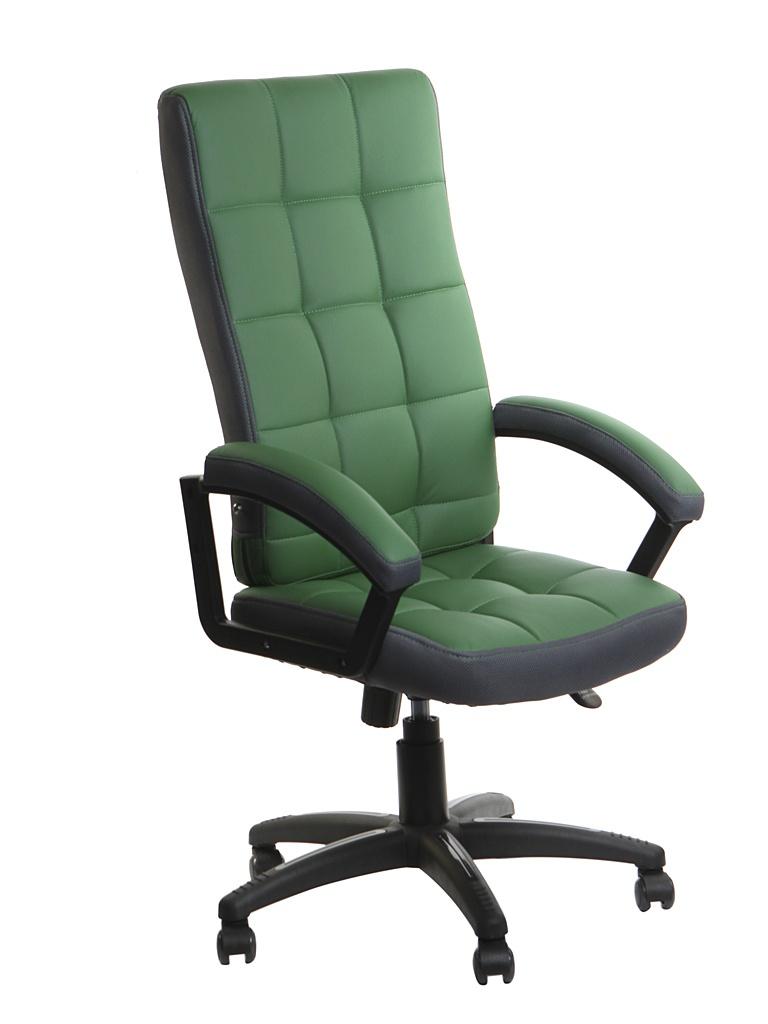 Компьютерное кресло TetChair Trendy искусственная кожа, ткань Green-Grey 12022