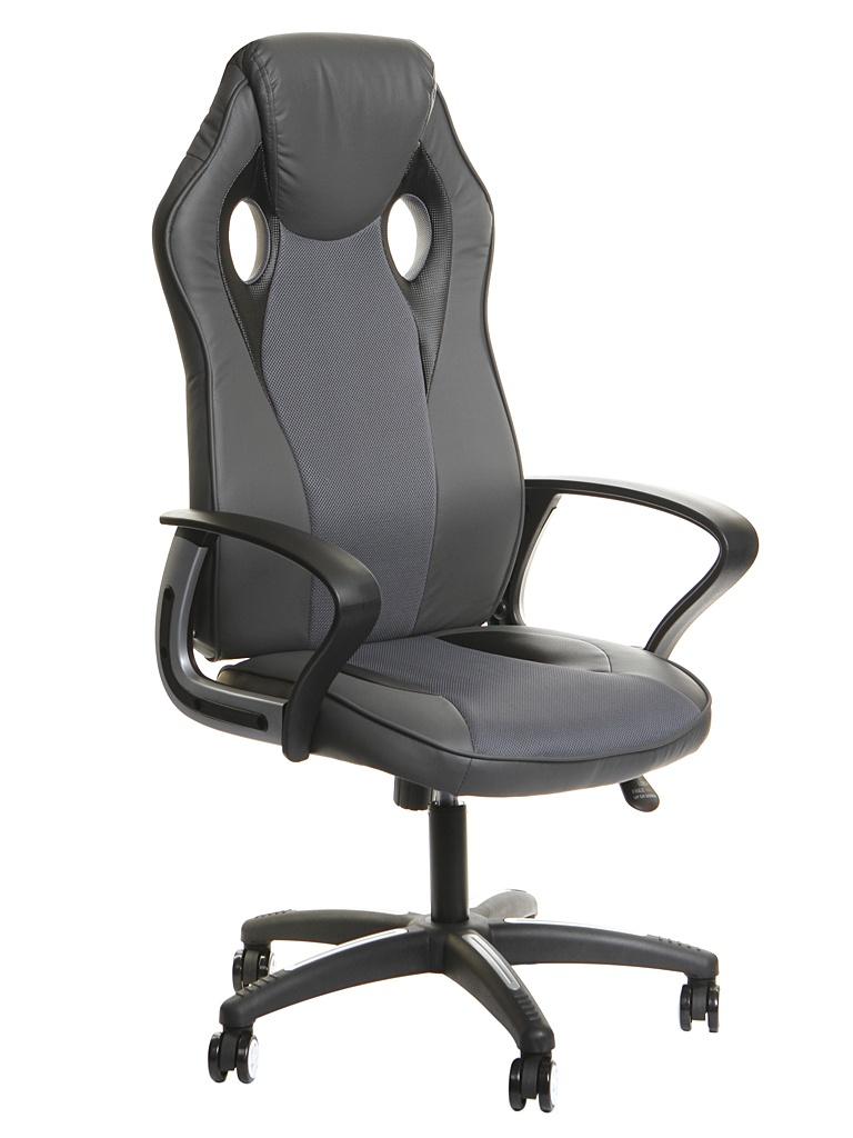 Компьютерное кресло TetChair Racer New искусственная кожа, ткань Metallic-Grey 13232