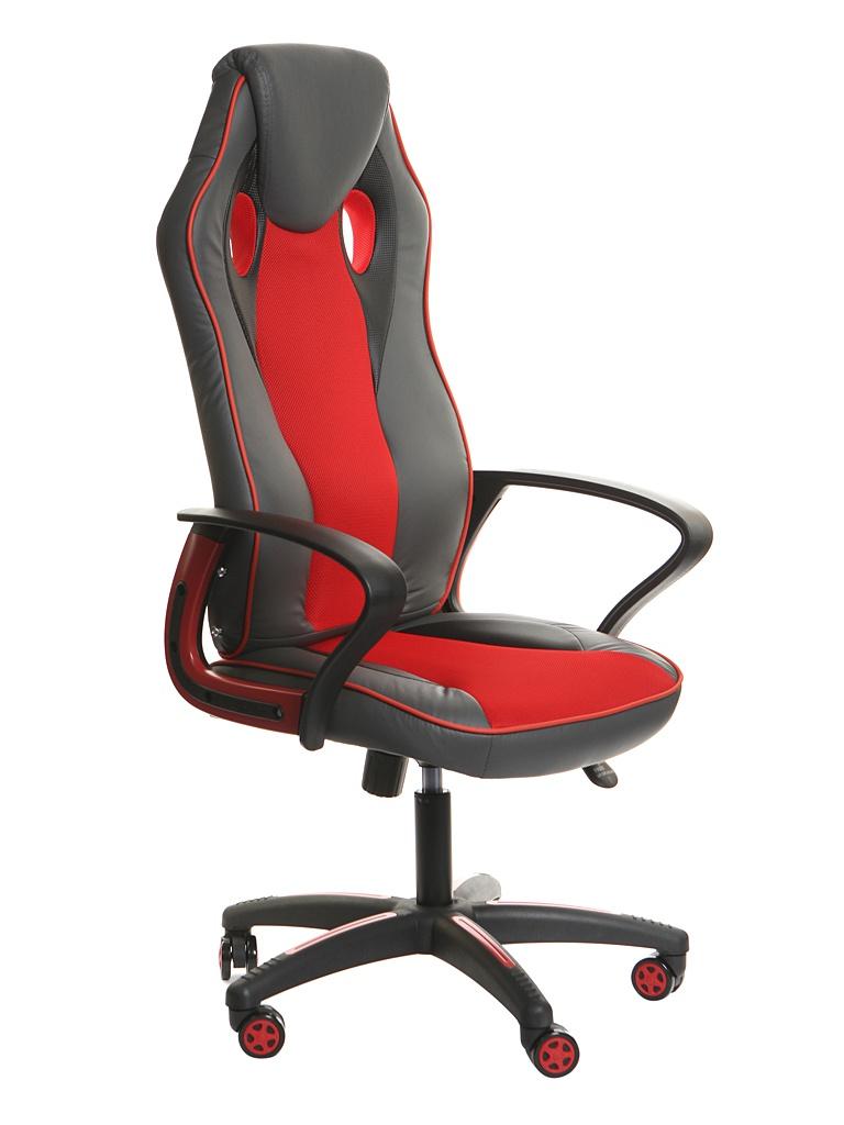 Компьютерное кресло TetChair Racer New искусственная кожа, ткань Metallic-Red 13229