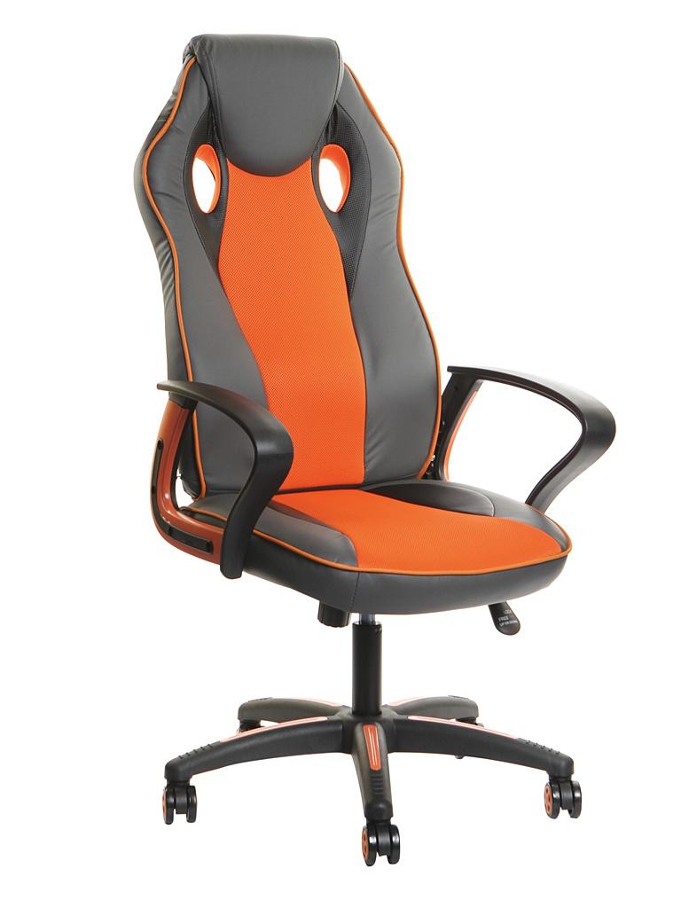 Компьютерное кресло TetChair Racer New искусственная кожа, ткань Metallic-Orange 13228 кресло компьютерное рейсер racer доступные цвета обивки искусств чёрн кожа оранжевая сетка