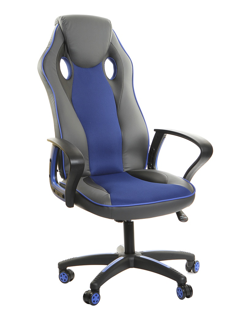 Компьютерное кресло TetChair Racer New искусственная кожа, ткань Metallic-Blue 13231