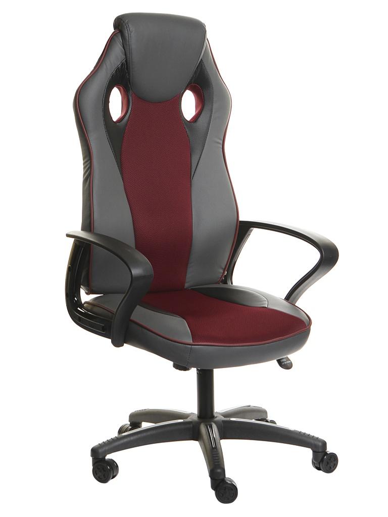 Компьютерное кресло TetChair Racer New искусственная кожа, ткань Metallic-Burgundy 13230