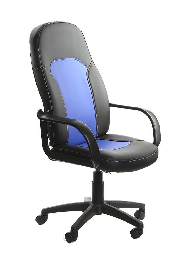 Компьютерное кресло TetChair Parma искусственная кожа Black-Blue 3526