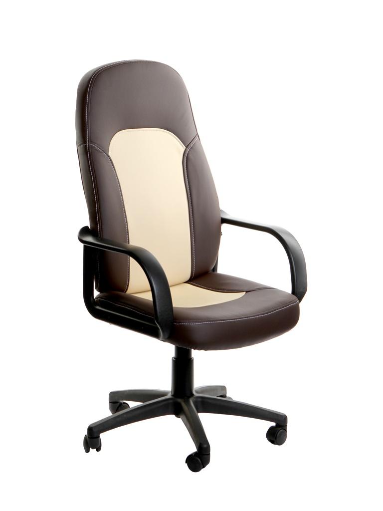 Компьютерное кресло TetChair Parma искусственная кожа Brown-Beige 4700