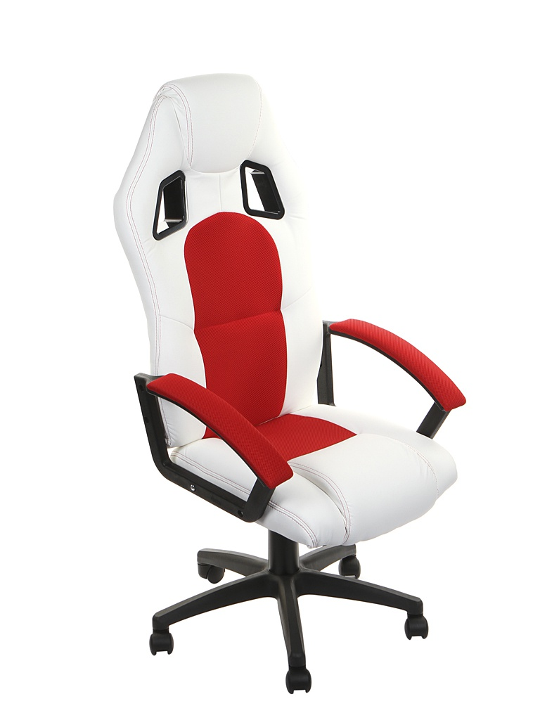 Компьютерное кресло TetChair Driver искусственная кожа, ткань White-Red 12842