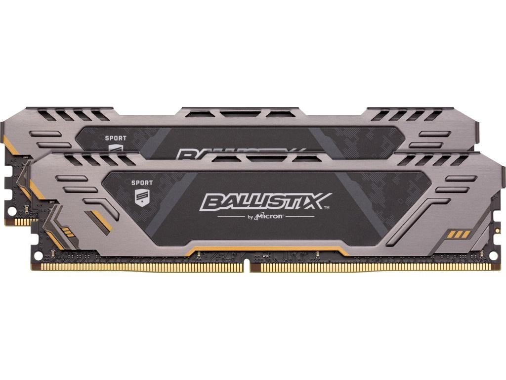 цена на Модуль памяти Crucial Ballistix Sport AT DDR4 UDIMM 2666MHz PC4-21300 CL16 - 32Gb Kit (2x16Gb) BLS2K16G4D26BFST