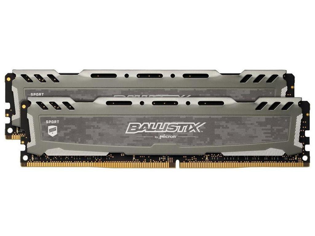 Модуль памяти Crucial Ballistix Sport LT DDR4 UDIMM 2666MHz PC4-21300 CL16 - 32Gb Kit (2x16Gb) BLS2K16G4D26BFSB