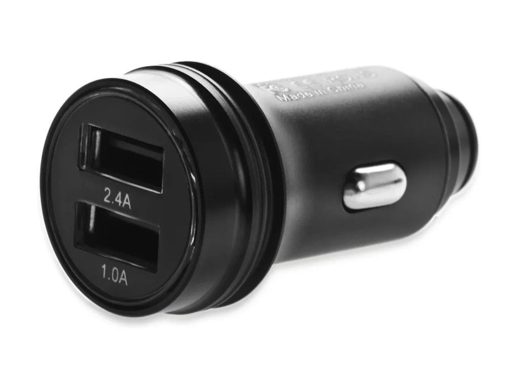 Зарядное устройство iNeez Metal 2xUSB 2.4 A Black 909439