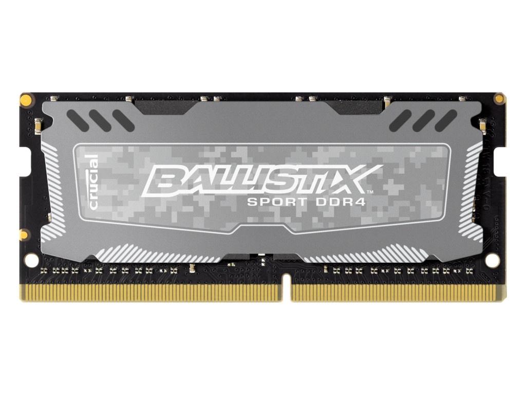Модуль памяти Crucial Ballistix Sport LT DDR4 SODIMM 2666MHz PC4-21300 CL16 - 16Gb BLS16G4S26BFSD