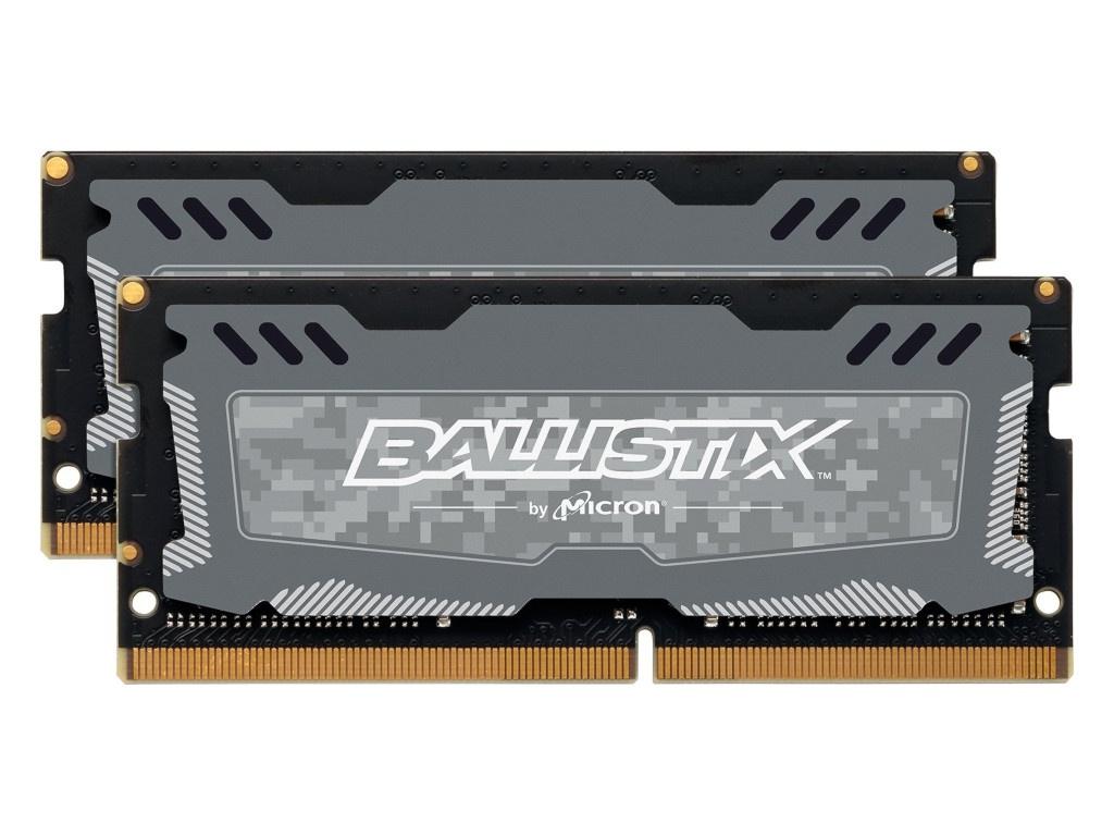 Модуль памяти Crucial Ballistix Sport LT DDR4 SODIMM 2400MHz PC4-19200 CL16 - 16Gb Kit (2x8Gb) BLS2K8G4S240FSDK