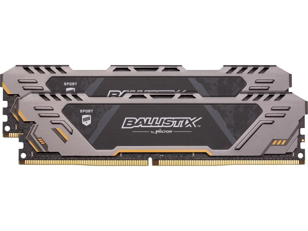 Модуль памяти Crucial Ballistix Sport AT DDR4 UDIMM 3200MHz PC4-25600 CL16 - 32Gb Kit (2x16Gb) BLS2K16G4D32AEST