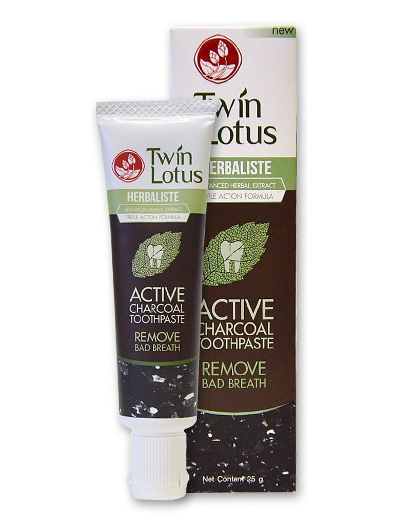 Зубная паста Twin Lotus Active Charcoal 25гр 0135