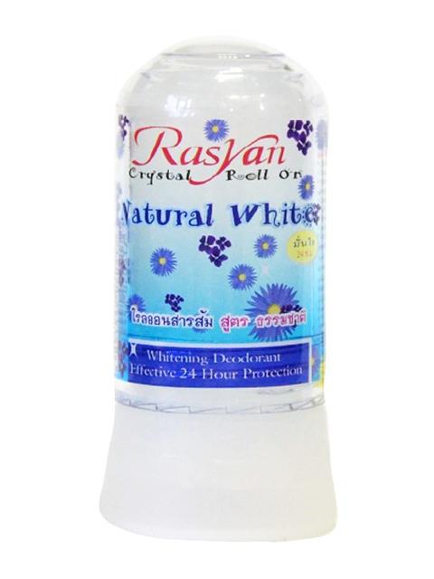 Дезодорант Rasyan кристалл 80г натуральный белый 0517
