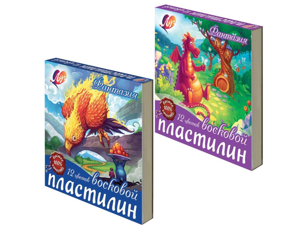 Набор для лепки Луч Пластилин Фантазия 12 цветов 210g 25С 1523-08