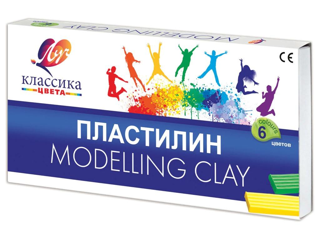 Набор для лепки Луч Пластилин Классика 6 цветов 120g 12С 878-08 всё для лепки луч пластилин флюрисветики 10 цветов 160гр со стеком