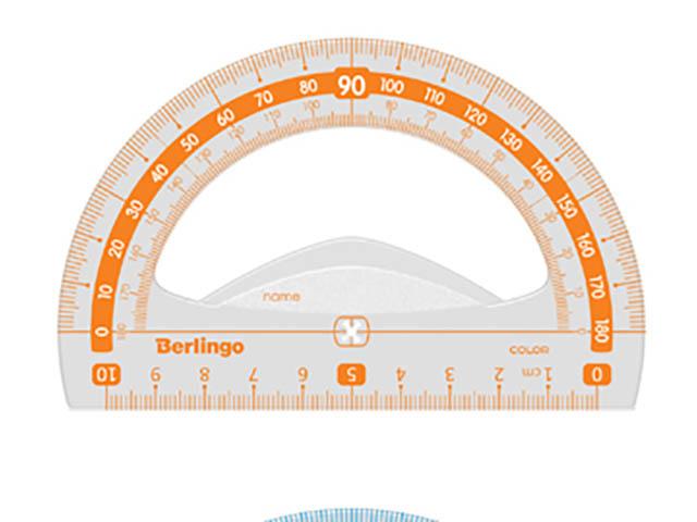 Транспортир Berlingo 10см 180° PT_30010