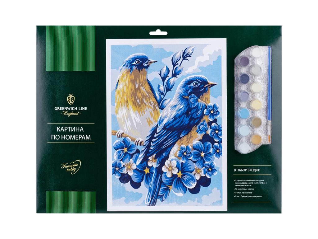 Картина по номерам Greenwich Line Весенние птицы A3 КК_27767