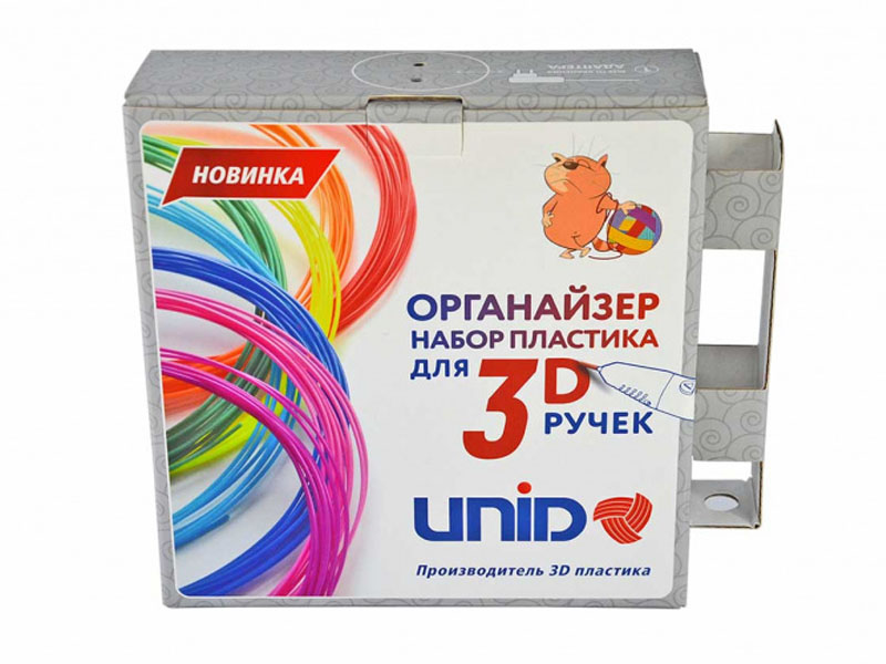 Аксессуар Unid Набор-органайзер с пластиком PLA-20 20 цветов по 10m ORG-PLA20F