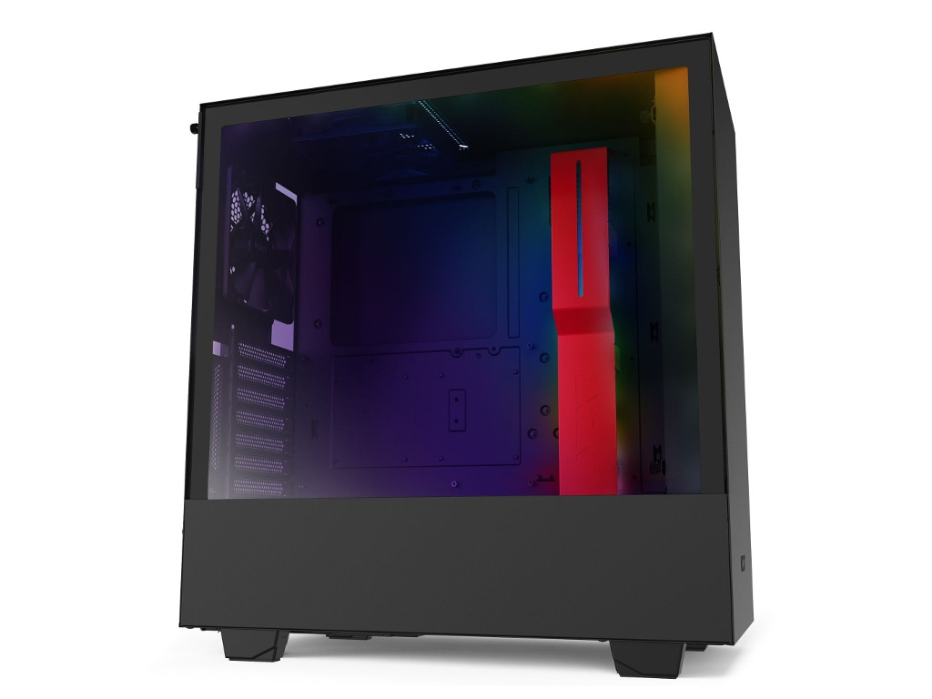 Корпус NZXT H510i Black-Red CA-H510i-BR корпус microatx miditower nzxt h400i smart ca h400w br black red