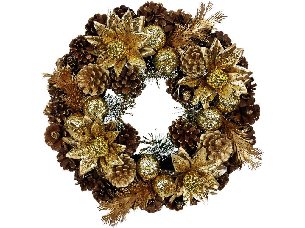 Хвойный декор Jewel Night Венок 9112-13 35x35cm 1060770