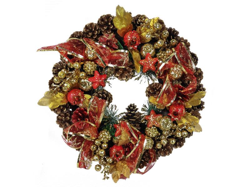 Хвойный декор Jewel Night Венок 9112-11 40x40cm 1060768