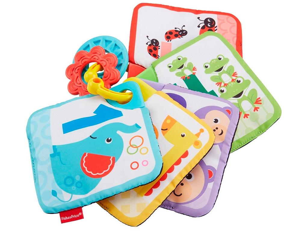 Прорезыватель Мягкие карточки Mattel от 1 до 5 GFX90