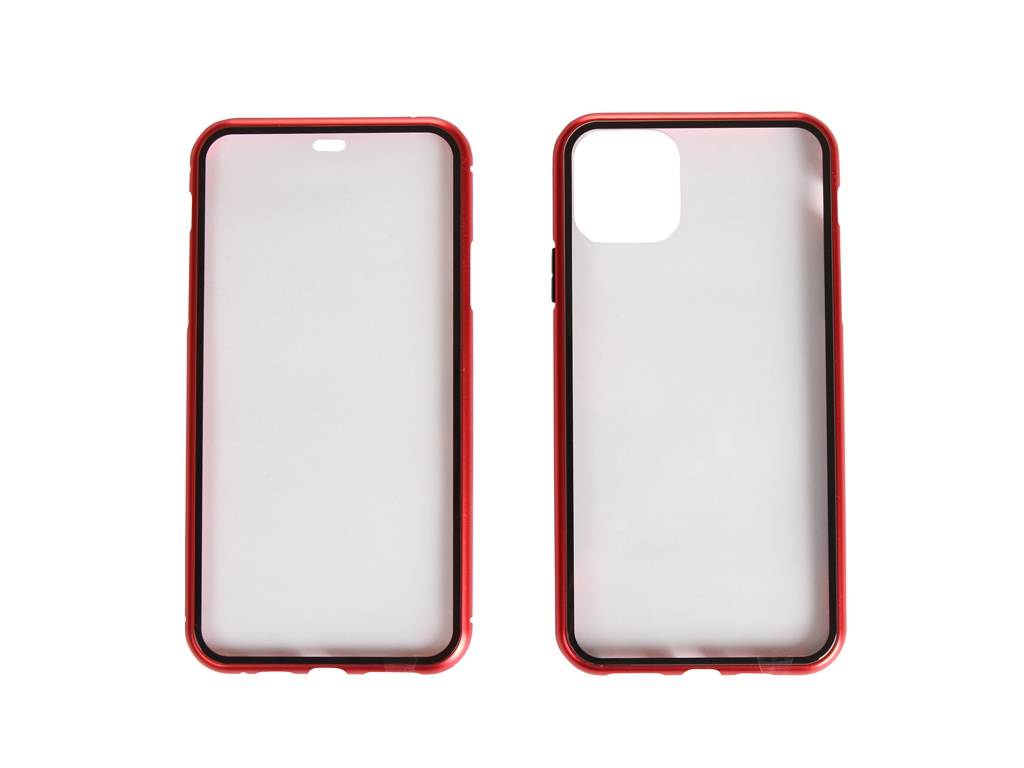 Чехол 360 Strong Magnetic Glass для APPLE iPhone 11 Pro Max Red 108699