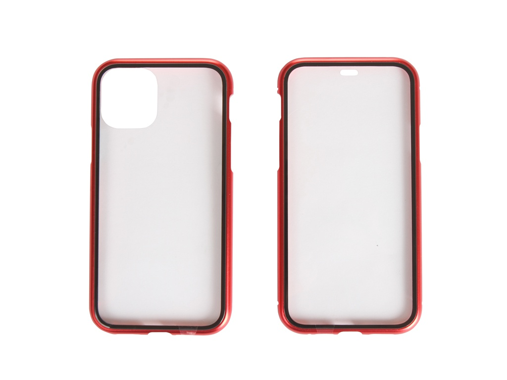 Чехол 360 Strong Magnetic Glass для APPLE iPhone 11 Pro Red 108693