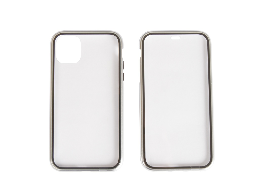Чехол 360 Strong Magnetic Glass для APPLE iPhone 11 Silver 108697