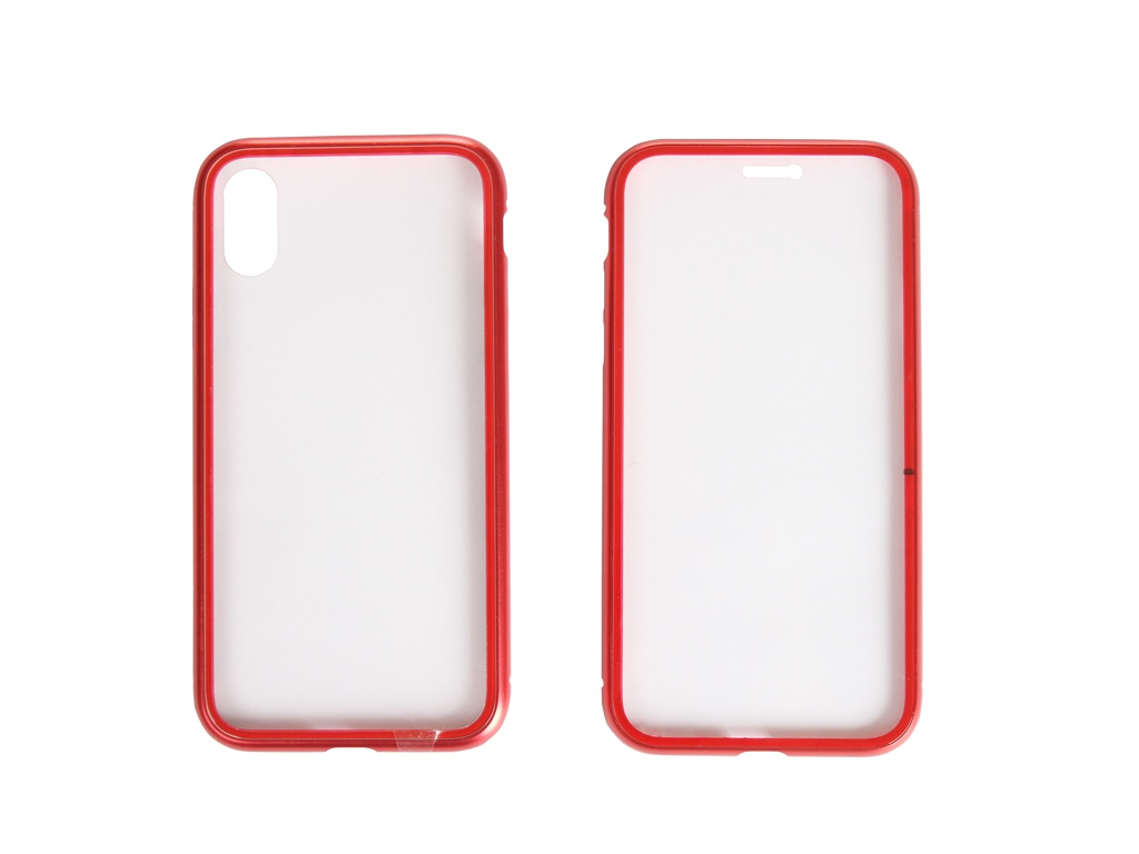 Чехол 360 Strong Magnetic для APPLE iPhone X/XS Glass Red 108708