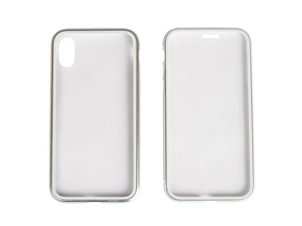 Чехол 360 Strong Magnetic Glass для APPLE iPhone X/XS Silver 108709
