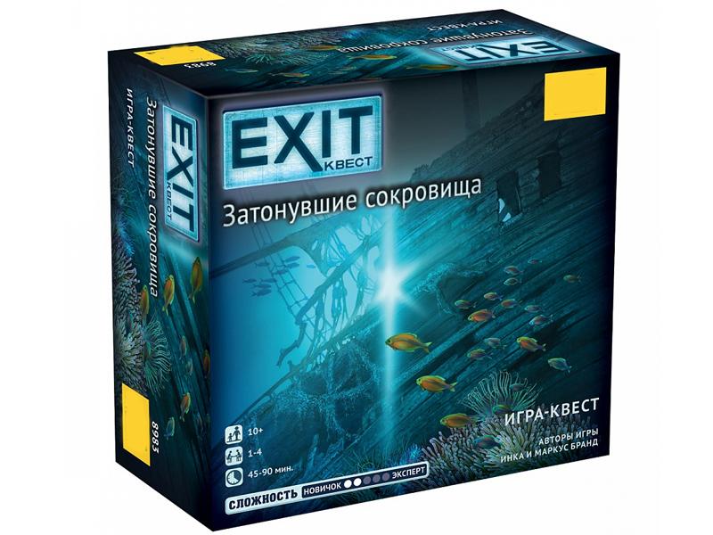 Настольная игра Zvezda Exit Квест Затонувшие сокровища 8983