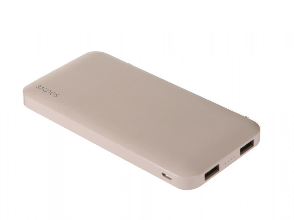 Внешний аккумулятор Xiaomi Solove Power Bank X8 10000mAh Pink
