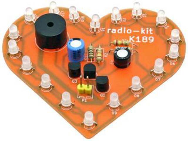 Конструктор Радио КИТ Световой эффект Музыкальное сердце RL189 фото