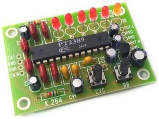 Конструктор Радио КИТ Стерео эквалайзер на 5 пресетов RS264