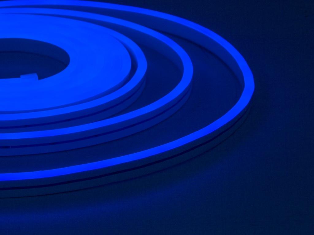 Светодиодная лента ELF NeonLine боковой изгиб 12V 5m IP 20 Blue ELF-NL-5-side-in-B